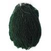 Seedbead Transparent Dark Green 10/0 Strung